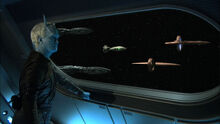 Coalition fleet and Shran