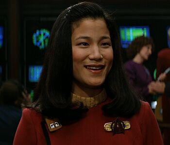 ...as Ensign Demora Sulu