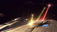 Enterprise NX-01 im Gefecht mit Suliban bei Warp