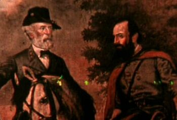 "<a href=""/wiki/General"" title=""General"">Generals</a> <strong class=""selflink"">Robert E. Lee</strong> (left) and Stonewall Jackson (right)"