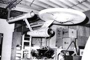 USS Enterprise eleven-foot studio model in storage at Desilu between seasons