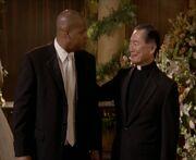 Chris Turk und der Pfarrer der so aussieht wie Captain Sulu