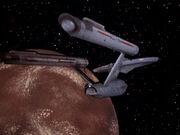 Enterprise im Orbit eines Unbekannten Planeten 2267