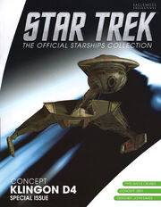 Star Trek Official Starships Collection Klingon D4 Concept cover