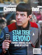 American Cinematographer cover August 2016