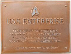 Eaglemoss USS Enterprise-A plaque