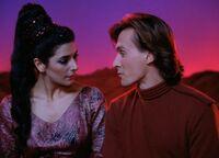 Haven - Deanna i Wyatt w holodeku