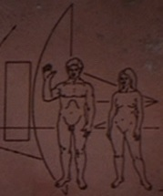 Humans on pioneer 10 plaque