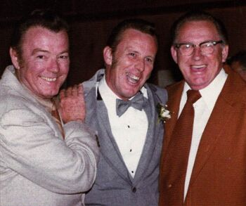...with his Hollywood Art Director brothers, Philip (l) and John (c) in 1987, shortly before the death of the former