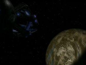 Krenim weapon ship at Garenor homeworld.jpg
