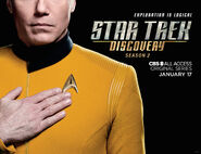 Star Trek Discovery Season 2 Christopher Pike banner 2