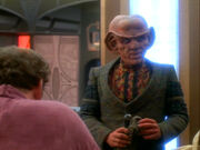 O'Brien complains to Quark who isn't listening
