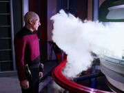 Picard views flashpoint of core breach