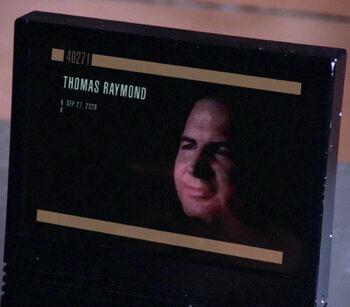 ...as Thomas Raymond