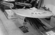 USS Enterprise 11-foot studio model re-assembled at the Smithsonian for inspection