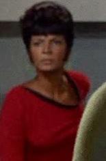 Lieutenant Nyota Uhura, accidentally transported aboard the USS <i>Enterprise</i>