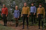 Kirk and Enterprise landing party