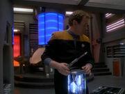 O'Brien hört Geräusche im Maschinenraum