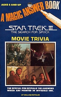 Star Trek III The Search for Spock – Magic Answer Book Movie Trivia