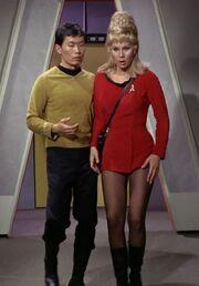 Hikaru Sulu and Janice Rand, 2266