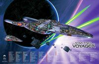 USS Voyager cutaway poster