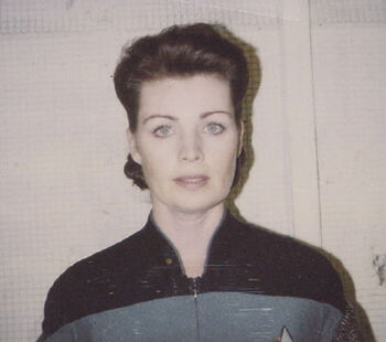 "Mendell in 1994, on a continuity Polaroid for the episode ""Firstborn"""