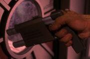 Nausicaan hand-held directed energy weapon