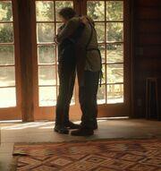 Picard and Riker hug