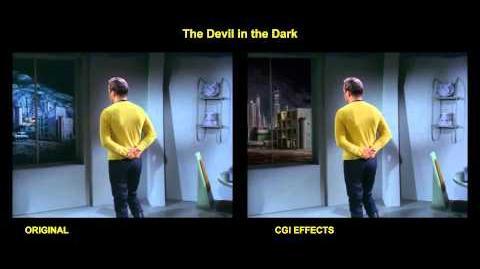 """TOS """"The devil in the dark"""" - """"Les mines de Horta"""" - comparaison des effets spéciaux"""