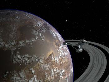Tantalus V from orbit