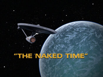 The Naked Time title card