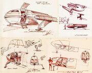 Class F shuttlecraft original design by Matt Jefferies