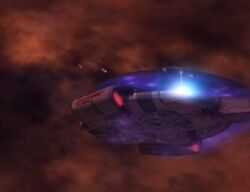 Defiant Starship Down