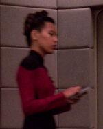 Female command division bridge officer, 2370