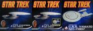 Aoshima Star Trek starships box fronts