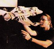 Chris Schnitzer rigging the Maquis raider studio model