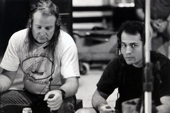 Elliot (r) with John Fifer (l) in 1993