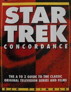 Star Trek Concordance UK second edition, front cover