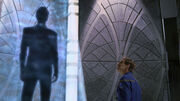 Archer meets humanoid figure