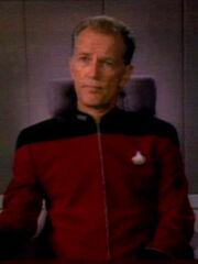 Chekote bei Gespräch mit Riker