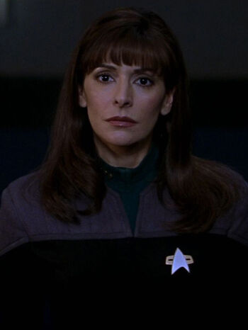 "Commander Deanna Troi in <a href=""/wiki/2379"" title=""2379"">2379</a>"
