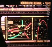 Dominion withdrawal, Cardassian system, tactical display