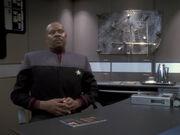 Sisko hat Probleme mit Kasidy an Bord der Defiant