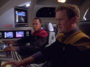 Sisko und O'Brien folgen dem Runabout