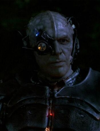 "Lansor as a Borg drone in <a href=""/wiki/2368"" title=""2368"">2368</a>"
