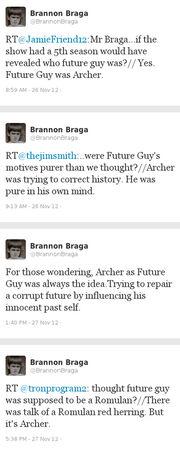 Braga reveals Future Guy