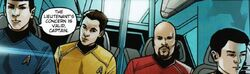 Countdown to darkness, Spock , Kirk, Hendorff et Sulu