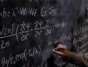 Einstein's chalk