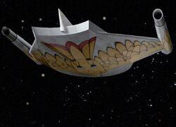 Romulan bird-of-prey, CG TOS-aft