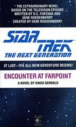 Encounter at Farpoint novelization cover, Titan Books 1988 edition